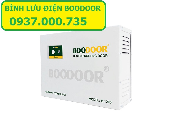 Bình lưu điện, UPS dùng cho cửa cuốn đức boodoor 801, cửa cuốn siêu êm giảm chấn 2 chiều, boodoor 801