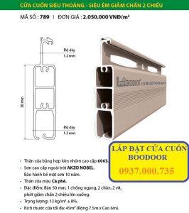Cửa cuốn Đức Boodoor 789 _ Cửa cuốn siêu thoáng, siêu êm giảm chấn 2 chiều, Boodoor 789