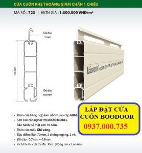 Lắp đặt cửa cuốn đức boodoor 723, cửa cuốn khe thoáng giảm chấn 1 chiều, BOODOOR 723