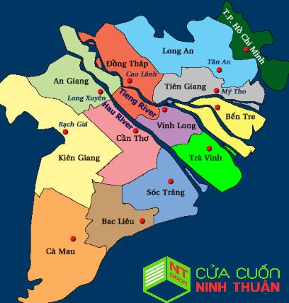 bản đồ vị trí địa lý tỉnh bến tre